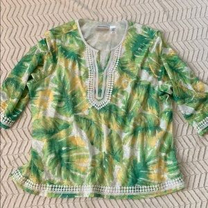 NWOT Alfred Dunner tunic top 3X